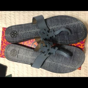Tory Burch gently use blue sandals